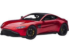 2019 Aston Martin Vantage RHD Right Hand Drive Hyper Red Metallic Carbon Top 1/18 Model Car Autoart 70277