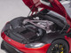2019 Aston Martin Vantage RHD Right Hand Drive Hyper Red Metallic Carbon Top 1/18 Model Car Autoart 70277