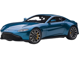 2019 Aston Martin Vantage RHD Right Hand Drive Zaffre Blue Metallic 1/18 Model Car Autoart 70278