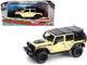 2018 Jeep Wrangler Unlimited Rubicon Recon Off-Road Parts Gobi Yellow Black Top All-Terrain Series 1/43 Diecast Model Car Greenlight 86188