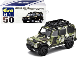 Mercedes Benz G-Class Roof Rack Military Camouflage 1ST Special Edition 1/64 Diecast Model Car Era Car MB214X4RF50