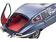 Jaguar E-Type Coupe RHD Right Hand Drive Dark Blue Metallic Red Interior E-Type 60th Anniversary 1961-2021 1/18 Diecast Model Car Kyosho 08954