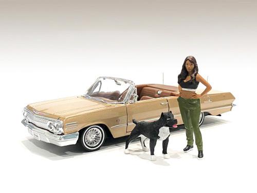 Lowriderz Figurine IV Dog 1/18 Scale Models American Diorama 76276