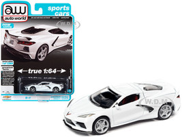 2020 Chevrolet Corvette C8 Stingray Arctic White Sports Cars Limited Edition 13904 pieces Worldwide 1/64 Diecast Model Car Autoworld 64312 AWSP065 B