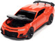2019 Chevrolet Camaro ZL1 1LE Crush Orange Black Hood Modern Muscle Limited Edition 12920 pieces Worldwide 1/64 Diecast Model Car Autoworld 64312 AWSP066 A