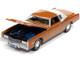 1975 Cadillac Eldorado Mandarin Orange Metallic White Roof Back Section Luxury Cruisers Limited Edition 12920 pieces Worldwide 1/64 Diecast Model Car Autoworld 64312 AWSP070 A