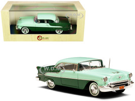 1955 Oldsmobile Super 88 Holiday Coupe Light Green Dark Green Limited Edition 125 pieces Worldwide 1/43 Model Car Esval Models EMUS43048 C