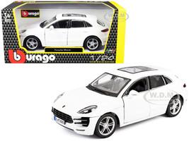 Porsche Macan Sunroof White 1/24 Diecast Model Car Bburago 21077