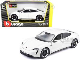 Porsche Taycan Turbo S White 1/24 Diecast Model Car Bburago 21098