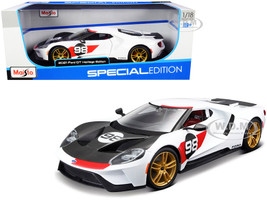 2021 Ford GT #98 White Heritage Edition 1/18 Diecast Model Car Maisto 31390