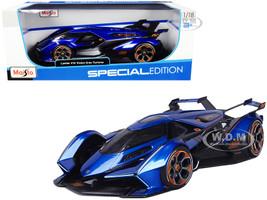 Lamborghini V12 Vision Gran Turismo Blue Metallic 1/18 Diecast Model Car Maisto 31454