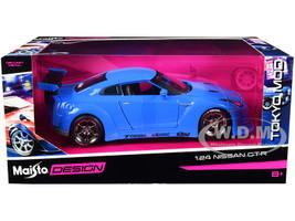 Nissan GT-R Light Blue Tokyo Mod 1/24 Diecast Model Car Maisto 32526