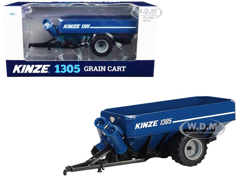 Kinze 1305 Grain Cart Blue 1/64 Diecast Model SpecCast GPR1337