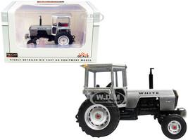 White 2-85 Field Boss Tractor Cab Silver White Stripes 1/64 Diecast Model SpecCast SCT773