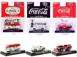 Coca-Cola Set of 3 pieces Limited Edition 9600 pieces Worldwide 1/64 Diecast Model Cars M2 Machines 52500-A08