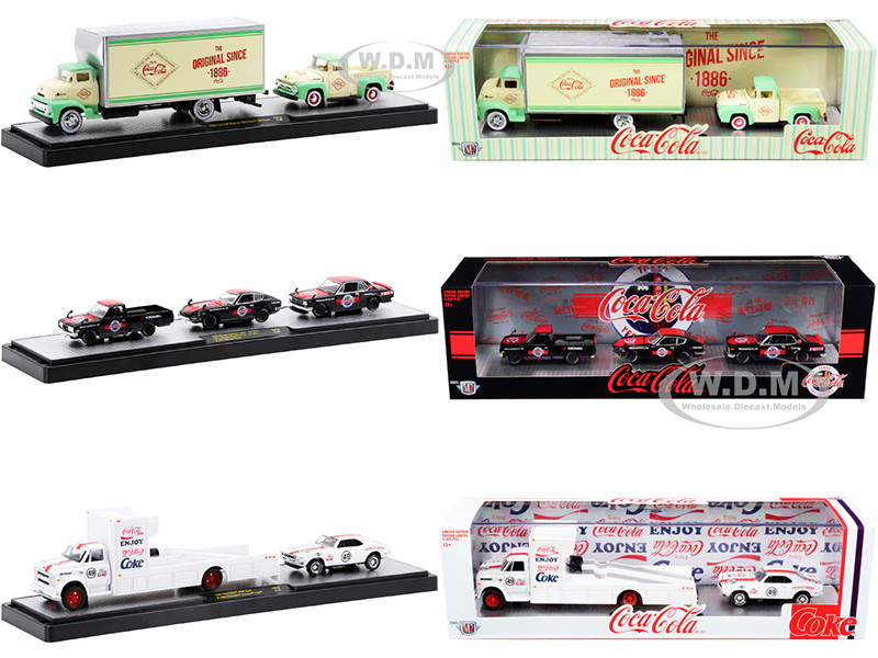 Auto Haulers Coca-Cola Set of 3 pieces Release 10 Limited Edition 6400 pieces Worldwide 1/64 Diecast Models M2 Machines 56000-TW10