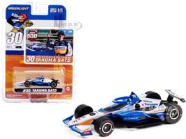 Dallara IndyCar #30 Takuma Sato PeopleReady Rahal Letterman Lanigan Racing Indianapolis 500 Champion 2020 1/64 Diecast Model Car Greenlight 10884