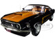 1969 Ford Mustang Boss 429 Fastback Raven Black Gold Gold Interior American Muscle 30th Anniversary 1/18 Diecast Model Car Autoworld AMM1251