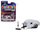 1956 Teardrop Travel Trailer Silver Backpacker Figurine Hitched Homes Series 10 1/64 Diecast Model Greenlight 34100 F