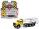 2018 International WorkStar Tanker Truck Yellow Silver PennDOT Pennsylvania Department of Transportation S.D. Trucks Series 12 1/64 Diecast Model Greenlight 45120 A
