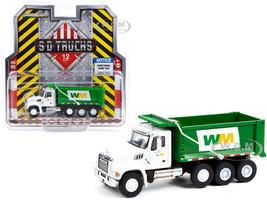 2020 Mack Granite Dump Truck White Green Waste Management S.D. Trucks Series 12 1/64 Diecast Model Greenlight 45120 B