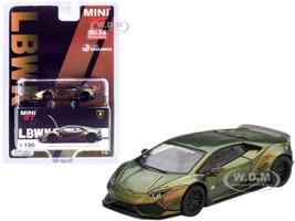 Lamborghini Huracan LB Works Magic Bronze Limited Edition 4200 pieces Worldwide 1/64 Diecast Model Car True Scale Miniatures MGT00190