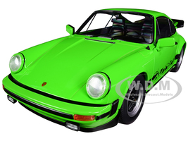 1984 Porsche 911 Carrera 3.2 Bright Green Black Stripes 1/18 Diecast Model Car Solido S1802603
