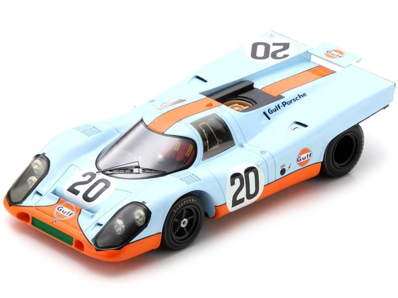 Porsche 917 K #20 Brian Redman Jo Siffert Gulf Oil 24H Le Mans 1970 1/18 Model Car Spark 18S417