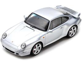 1997 Porsche 993 Turbo Silver 1/18 Model Car Spark 18S468