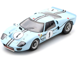Ford GT40 Mk2B #1 Jo Schlesser Guy Ligier Winner 12H Reims 1967 1/18 Model Car Spark 18S470