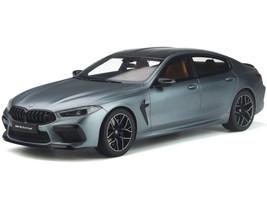 BMW M8 Gran Coupe Competition Frozen Blue Stone Metallic Carbon Top 1/18 Model Car GT Spirit GT846