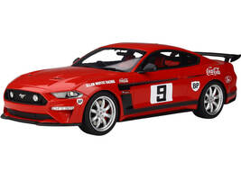 2019 Ford Mustang RHD Right Hand Drive #9 Coca Cola Red Black Stripes Allan Moffat Tribute by Tickford 1/18 Model Car GT Spirit ACME US030