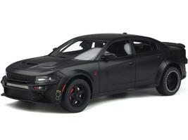 Dodge Charger SRT Hellcat Widebody Tuned Speedkore Matt Black 1/18 Model Car GT Spirit GT301