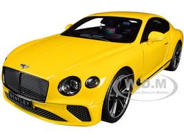 2018 Bentley Continental GT Monaco Yellow 1/18 Diecast Model Car Norev 182786