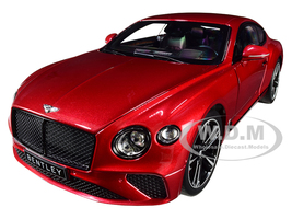 2018 Bentley Continental GT Candy Red Metallic 1/18 Diecast Model Car Norev 182788