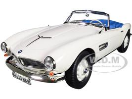 1956 BMW 507 Convertible White Blue Interior 1/18 Diecast Model Car Norev 183232