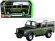 Land Rover Defender 110 Green Black Hood White Top 1/32 Diecast Model Car Bburago 43029