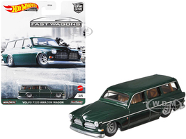 Volvo P220 Amazon Wagon Dark Green Fast Wagons Series Diecast Model Car Hot Wheels GRJ64