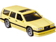 Volvo 850 Estate RHD Right Hand Drive Sunroof Light Yellow Fast Wagons Series Diecast Model Car Hot Wheels GRJ67