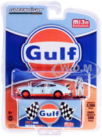 2021 Ford Mustang Mach 1 #8 Gulf Oil Driver Figurine Limited Edition 3300 pieces Worldwide 1/64 Diecast Model Car Greenlight 51377
