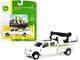 Ford F-350 Service Truck White John Deere Dealership 1/64 Diecast Model Car ERTL TOMY 45588