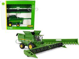 John Deere S780 Wheeled Combine Corn Head Draper Grain Head 1/32 Diecast Model ERTL TOMY 45627