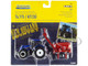 New Holland T6.175 Tractor Blue New Holland H7230 Discbine Disc Mower-Conditioner Red Set 2 pieces 1/64 Diecast Models ERTL TOMY 13896