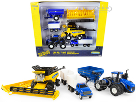 New Holland Harvesting Set 7 pieces New Holland Agriculture Series 1/64 Diecast Models ERTL TOMY 13933
