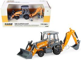 Case 580 Super N WT Backhoe Loader Orange Gray Case Construction Series 1/50 Diecast Model ERTL TOMY 14991