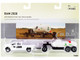 RAM 2500 Pickup Truck Farm Service White Anhydrous Ammonia Tanks Chassis Set 2 pieces 1/64 Diecast Models ERTL TOMY 16380