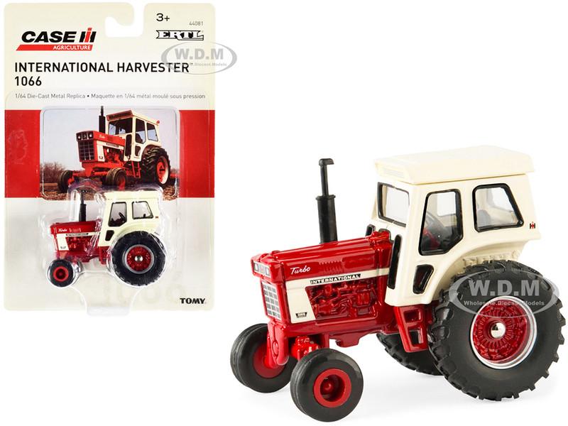 International Harvester 1066 Tractor Red Cream Case IH Agriculture Series 1/64 Diecast Model ERTL TOMY 44081