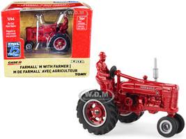 Farmall M Tractor Diecast Farmer Figurine Red ERTL 75th Anniversary 1945 2020 Case IH Agriculture Series 1/64 Diecast Model ERTL TOMY 44205 OTP