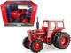 International Harvester 1566 Tractor Duals Red Cream Top Black Stripe Prestige Collection Series 1/16 Diecast Model ERTL TOMY 44218