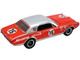 Ford F-350 Ramp Truck 1967 Mercury Trans Am Cougar #15 Parnelli Jones Red Silver Top ACME Exclusive 1/64 Diecast Model Cars Greenlight ACME 51343